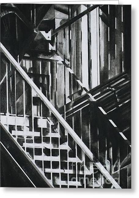 Escape Pastels Greeting Cards - Ladders 2 Greeting Card by Drew  Ward