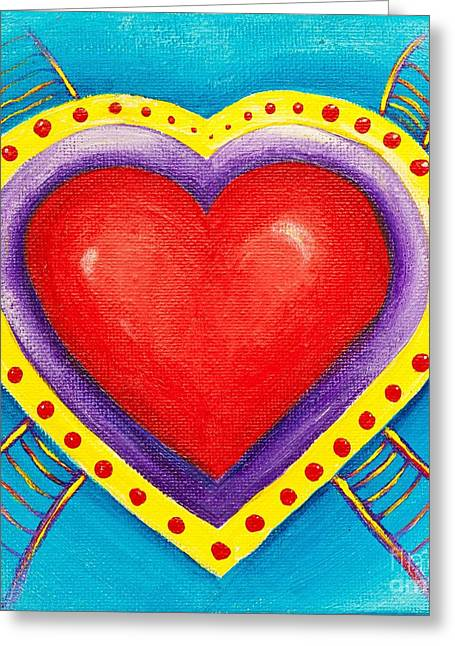 Ladders To Your Heart Greeting Card by Melle Varoy