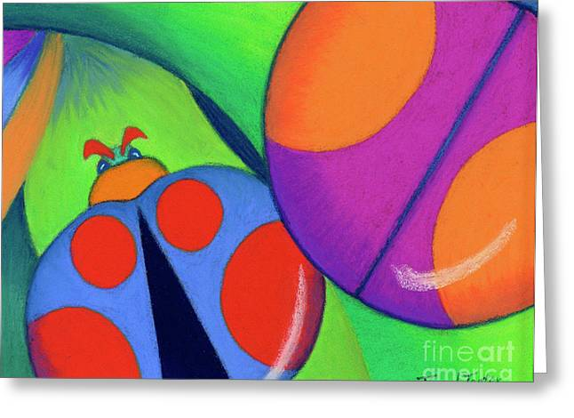 Treasures Pastels Greeting Cards - Ladies on a Leaf Greeting Card by Tracy L Teeter