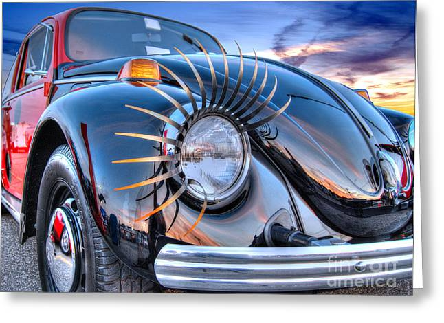 The Love Bug Greeting Cards - Lady Bug Greeting Card by Guy Harnett