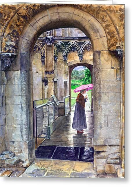Glastonbury Greeting Cards - Lady Chapel Greeting Card by John D Benson