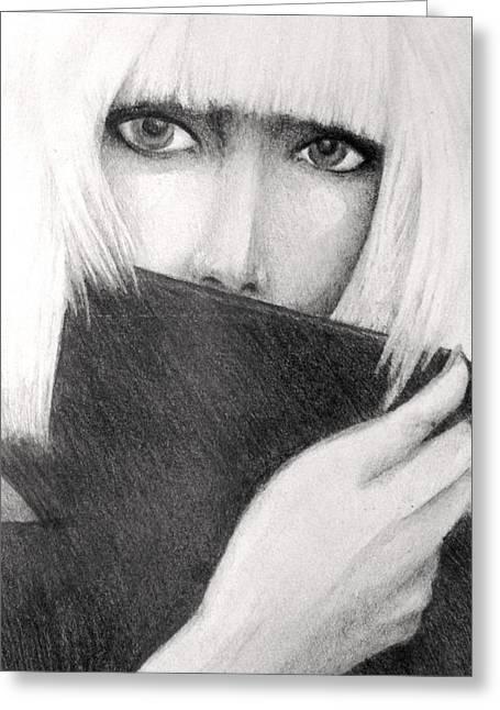 Bad Drawing Greeting Cards - Lady Gaga Greeting Card by Melissa Cabigao