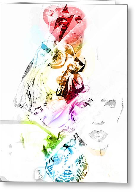 Pop Singer Mixed Media Greeting Cards - Lady Gaga Greeting Card by The DigArtisT