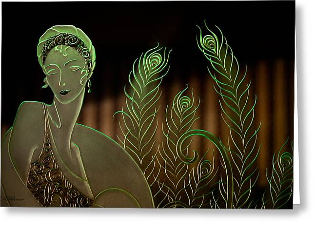 Ocular Perceptions Greeting Cards - Lady in Glass Greeting Card by Christopher Holmes