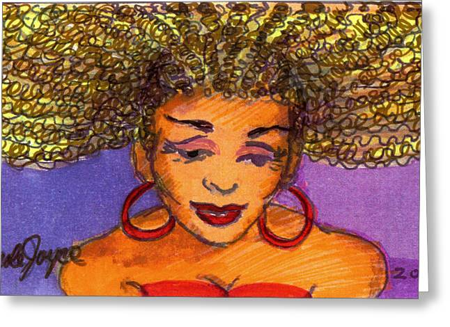 Lady In Red Greeting Card by Carole Joyce