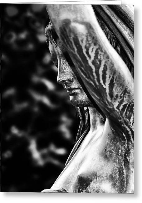 Fairmount Park Greeting Cards - Lady in the Garden 1 Greeting Card by Bill Cannon