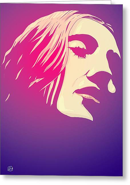 Trance Greeting Cards - Lady in the Light Greeting Card by Giuseppe Cristiano