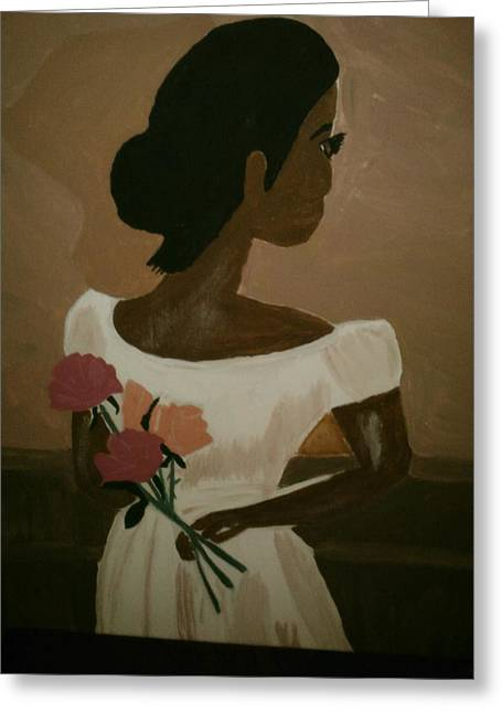 Husband Waiting Greeting Cards - Lady in Waiting Greeting Card by Felicia LaGrant