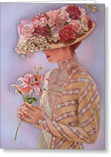 Portrait Pastels Greeting Cards - Lady Jessica Greeting Card by Sue Halstenberg