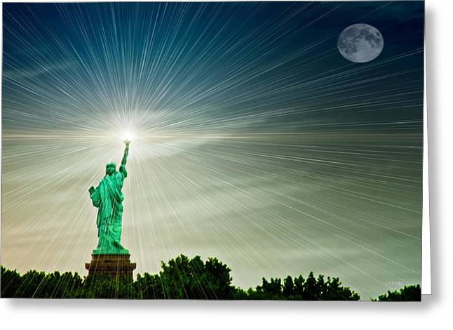 Tom York Images Greeting Cards - Lady Liberty Greeting Card by Tom York Images
