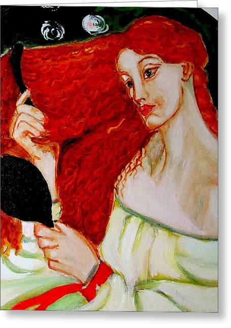 Lady Lilith Greeting Card by Rusty Woodward Gladdish