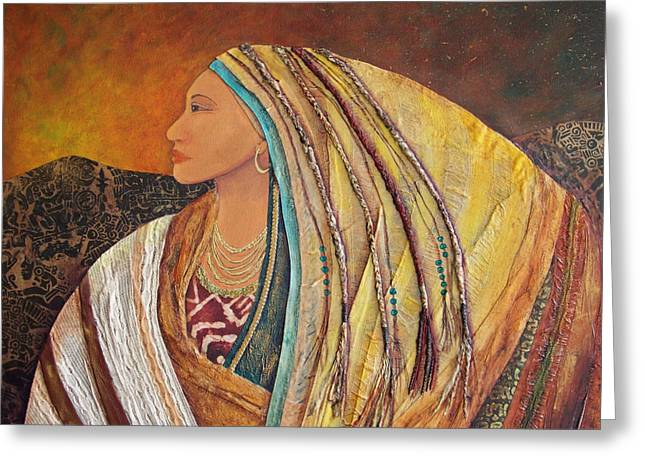 Earthtone Greeting Cards - Lady of the Mountains Greeting Card by Candy Mayer