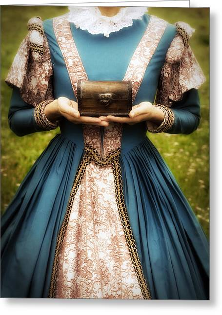 Anonymous Greeting Cards - Lady With A Chest Greeting Card by Joana Kruse