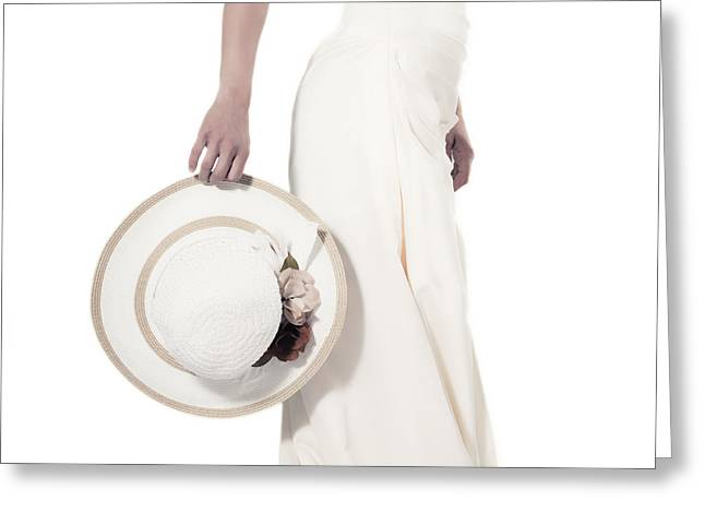 Sun Hat Greeting Cards - Lady With A Hat Greeting Card by Joana Kruse