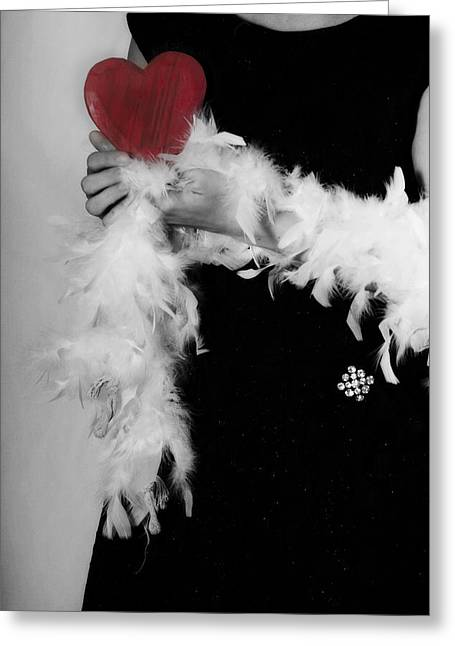 Lady With Heart Greeting Card by Joana Kruse