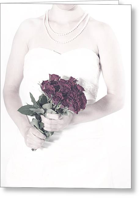 Lady With Roses Greeting Card by Joana Kruse