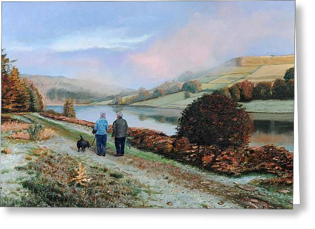 Fog Mist Greeting Cards - Ladybower Reservoir - Derbyshire Greeting Card by Trevor Neal