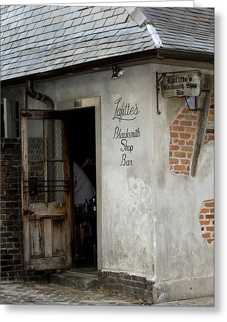 French Quarter Greeting Cards - Lafittes Blacksmith Shop Bar Greeting Card by Bourbon  Street