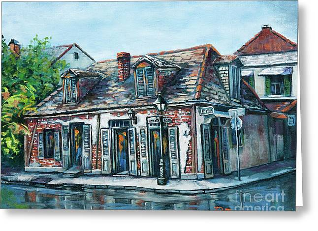Blacksmiths Greeting Cards - Lafittes Blacksmith Shop Greeting Card by Dianne Parks