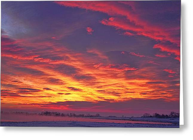 Longmont Greeting Cards - Lagerman Reservoir Sunrise Greeting Card by James BO  Insogna