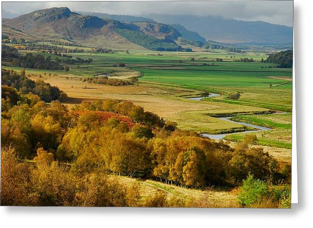 Kelly Greeting Cards - Laggan Autumn - The Clan McPhersons Seat Greeting Card by John Kelly