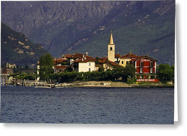 Italian Lake Greeting Cards - Lago Maggiore Greeting Card by Andrew Soundarajan