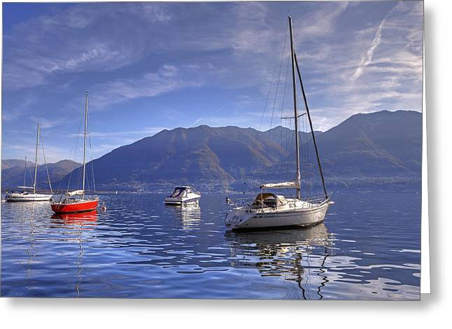 Ticino Greeting Cards - Lago Maggiore Greeting Card by Joana Kruse
