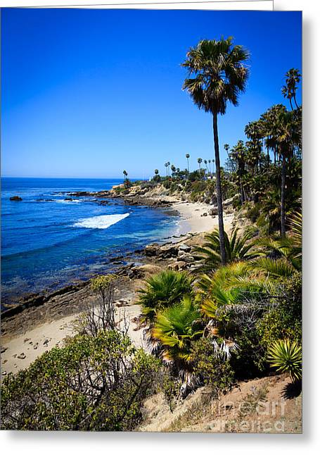 Colorful Photos Greeting Cards - Laguna Beach California Beaches Greeting Card by Paul Velgos