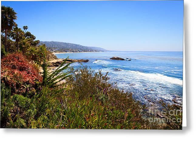 Laguna Beach California Coastline Greeting Card by Paul Velgos