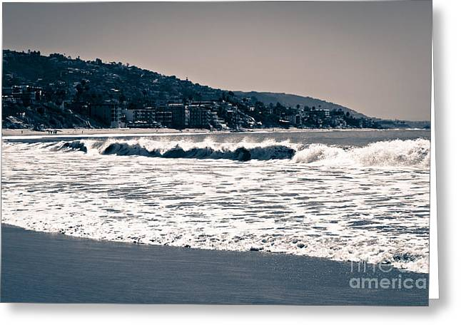 Cliffs And Houses Greeting Cards - Laguna Beach California Photo Greeting Card by Paul Velgos