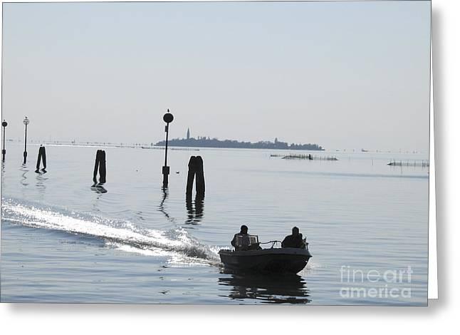 Italie Greeting Cards - Lagune de Venise Greeting Card by Bernard Jaubert