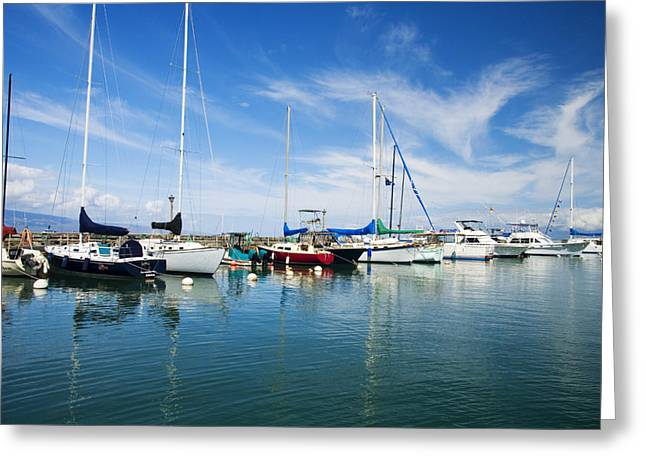 Lahaina Greeting Cards - Lahaina Harbor Greeting Card by Ron Dahlquist - Printscapes