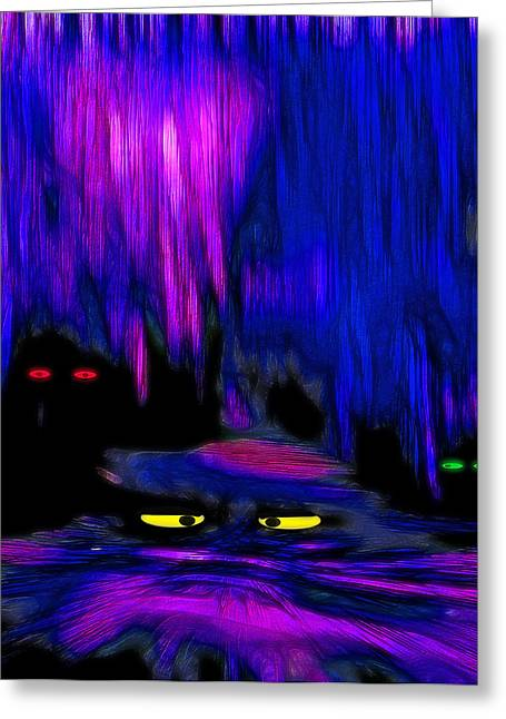 Cavern Mixed Media Greeting Cards - Lair 1 - Pop Art Greeting Card by Steve Ohlsen