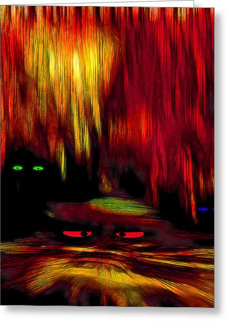 Cavern Mixed Media Greeting Cards - Lair 2 - Pop Art Greeting Card by Steve Ohlsen