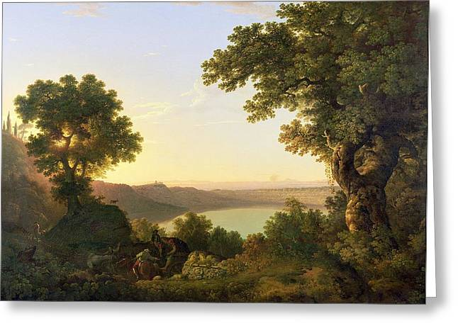 Italian Landscapes Greeting Cards - Lake Albano - Italy Greeting Card by Thomas Jones