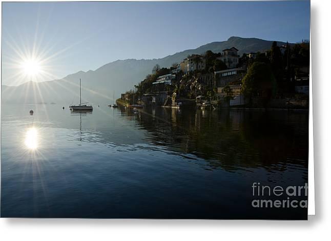 Lake and sunlight Greeting Card by Mats Silvan