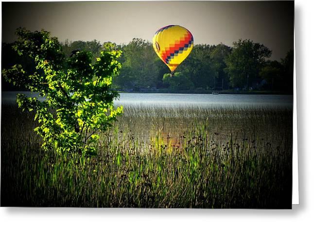 Indiana Landscapes Photographs Greeting Cards - Lake Balloon Greeting Card by Michael L Kimble