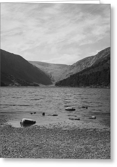 Mountain Greeting Cards - Lake between mountains  Greeting Card by Marcio Faustino