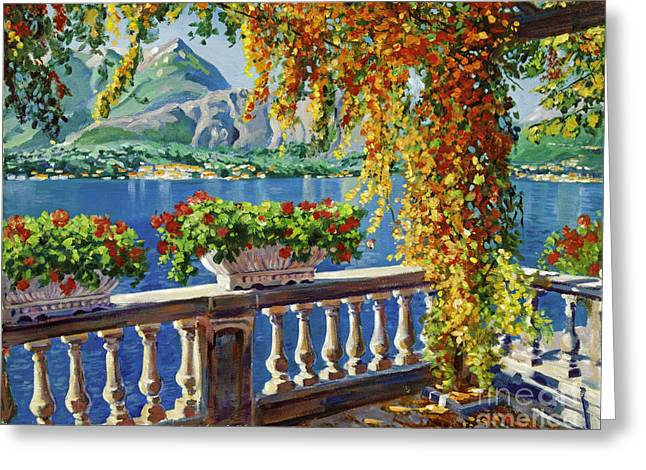 Container Greeting Cards - Lake Como Greeting Card by David Lloyd Glover