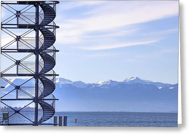 Lookout Greeting Cards - Lake Constance Friedrichshafen Greeting Card by Joana Kruse