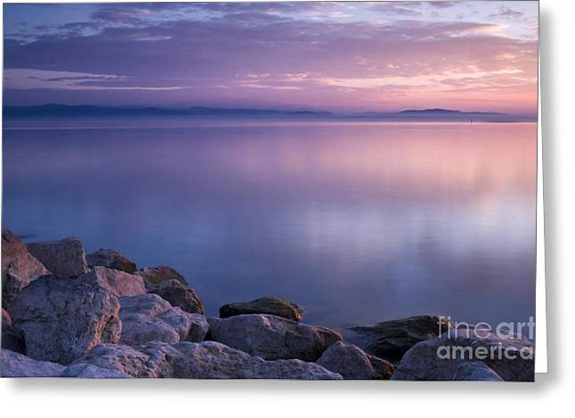 Stones Photographs Greeting Cards - Lake Constance Greeting Card by Silke Magino