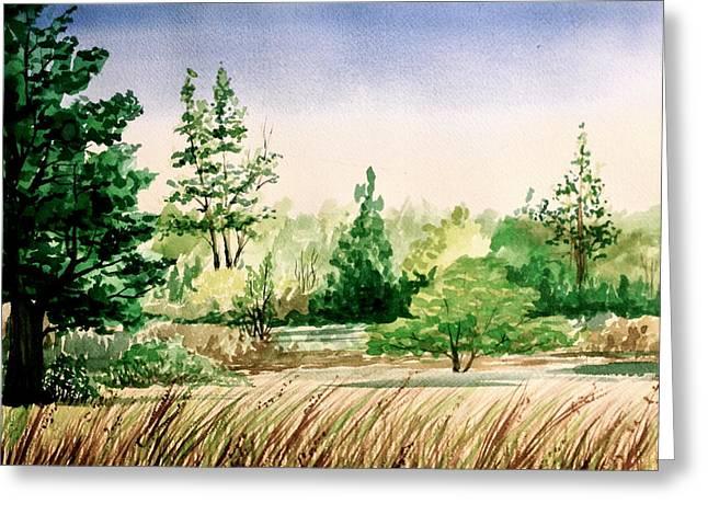 Mb Matthews Greeting Cards - Lake County Landscape Greeting Card by MB Matthews