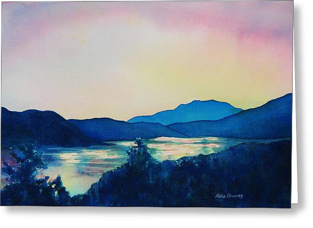 Acrylic Print Greeting Cards - Lake Dillon Sunset Greeting Card by Abbie Groves