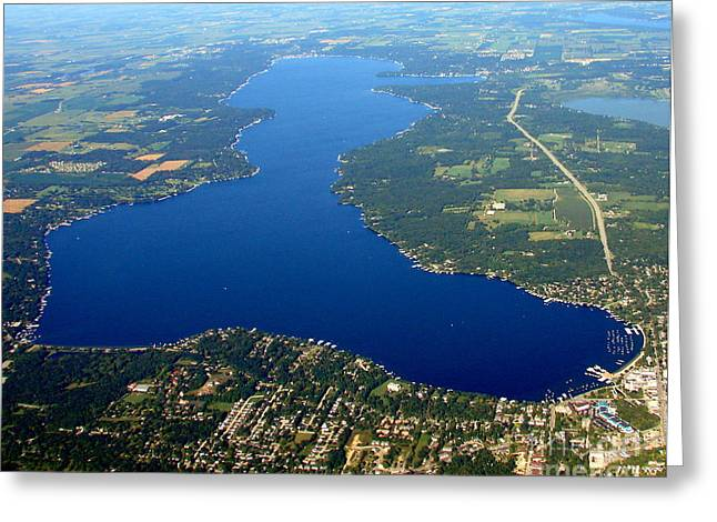 Bill Lang Greeting Cards - G-003 Geneva Lake East Shore Greeting Card by Bill Lang