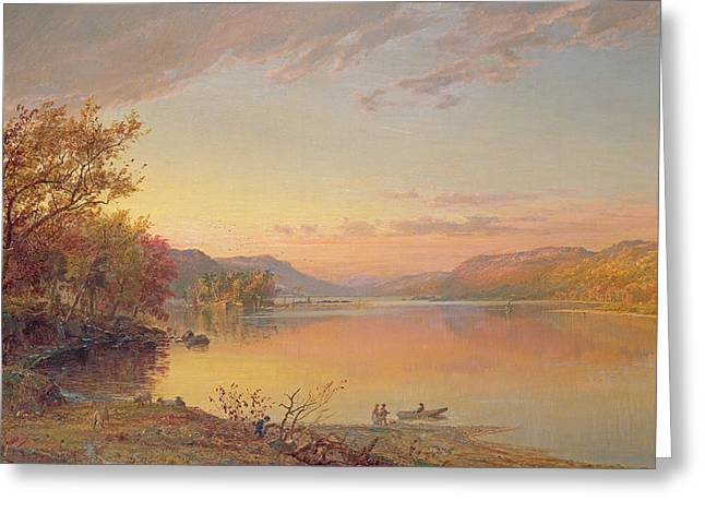 New York State Paintings Greeting Cards - Lake George - NY Greeting Card by Jasper Francis Cropsey