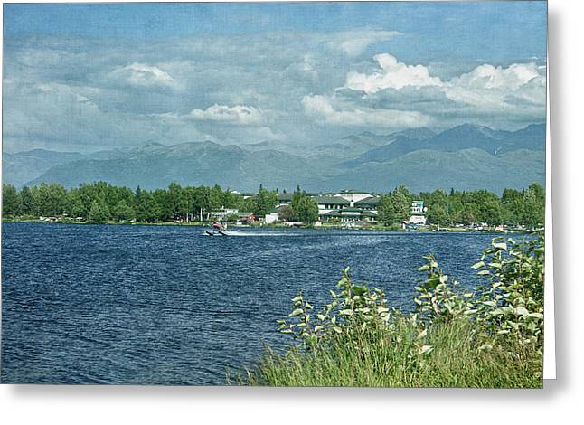 Lake Hood Anchorage Alaska Greeting Card by Kim Hojnacki