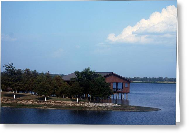 Best Sellers -  - Bamboo House Greeting Cards - Lake House Greeting Card by Kelly Rader