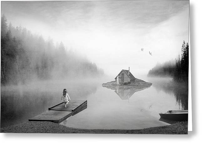 Lake House Greeting Card by Matt Hanson