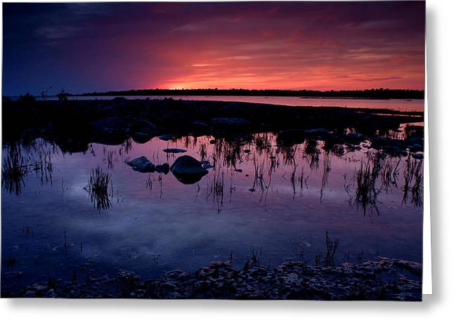 Sunset Scenes. Greeting Cards - Lake Huron Sunset Greeting Card by Cale Best