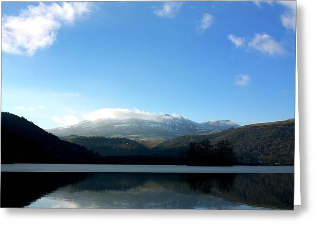 Temperature Greeting Cards - Lake in Auvergne Greeting Card by Bernard Jaubert